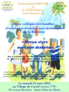 """Affiche du colloque """"Mieux vivre avec son Diabète"""""""