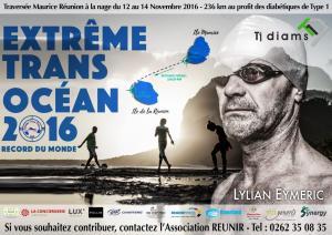 GRAND DEPART pour Lilian EYMERIC traversée nage Maurice- Réunion